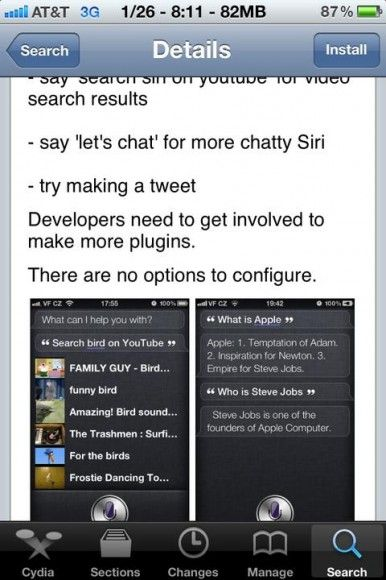 siri extension