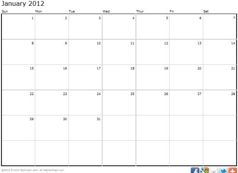 print out a calendar
