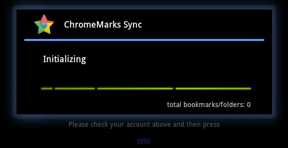 sync google chrome bookmarks