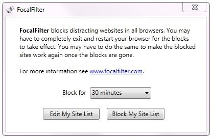 Focal   FocalFilter: Block Websites That Are Distracting You From Work [Windows]
