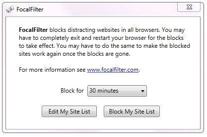 block websites distracting