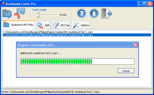 split audiobook files
