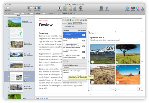 How To Write Your First Book In iBooks Author accessibility