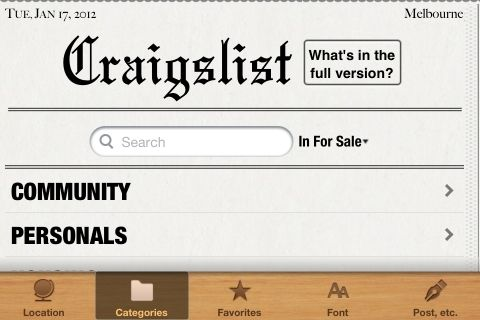 best app for craigslist on iphone