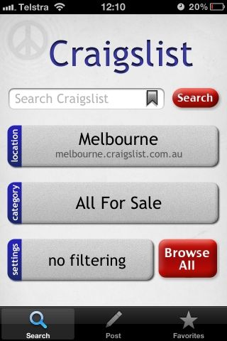 3 Free Apps For Using Craigslist On Your iPhone Or iPod Touch [iOS] app3 image1