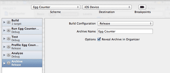 How To Submit Your Own App To The iTunes App Store archive release scheme