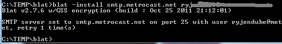 blat command line email