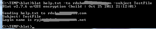 blat command line email utility