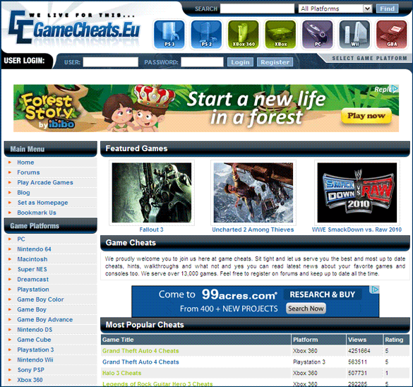 10 Best Comprehensive Websites to Go to for Game Cheat Codes cheat codes09