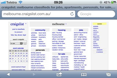 3 Free Apps For Using Craigslist On Your iPhone Or iPod