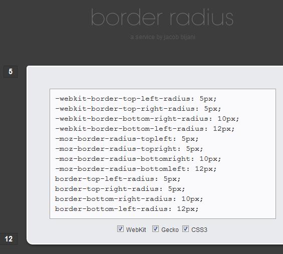 generate css borders