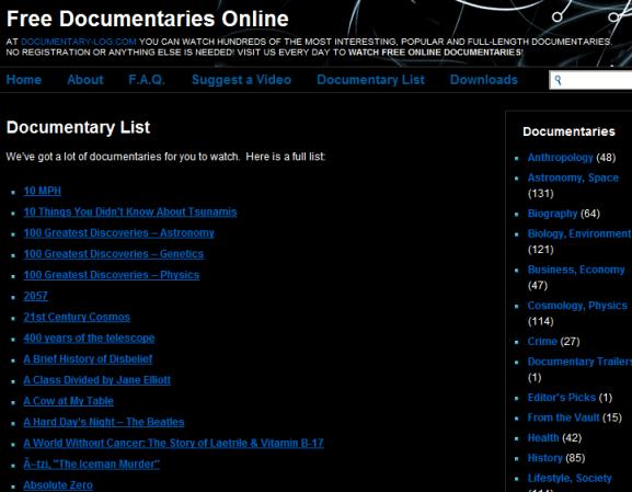online documentary films