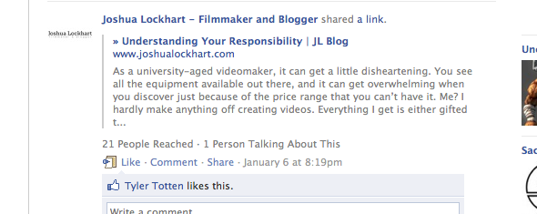 5 Tips For Starting Your Personal Blog [Opinion] facebook1