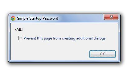 simple startup password