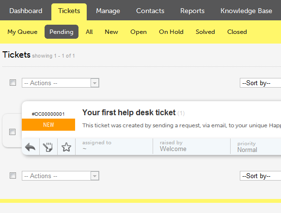 web-based help desk tool