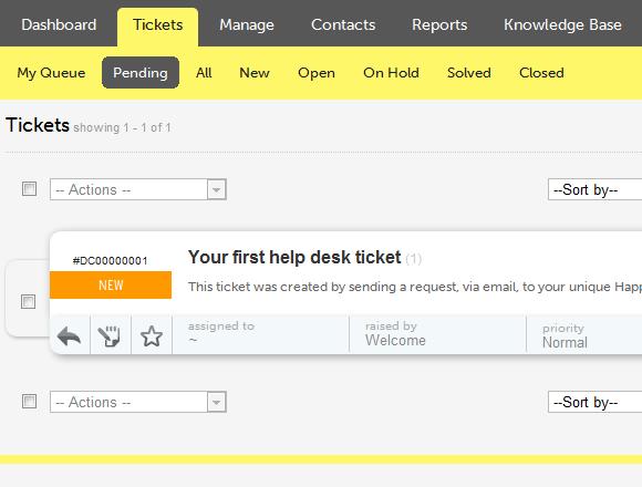 web-based help desk tool