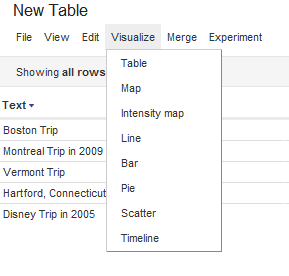 how to google fusion tables