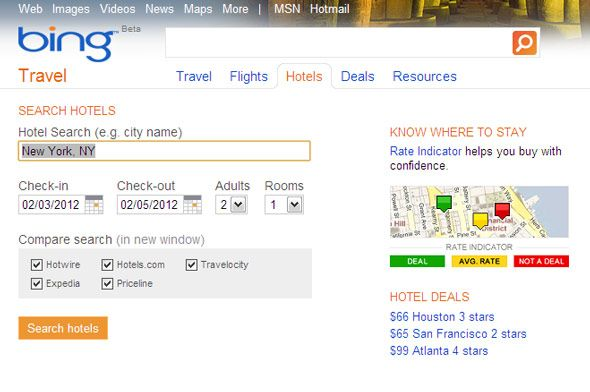 best hotel search engines