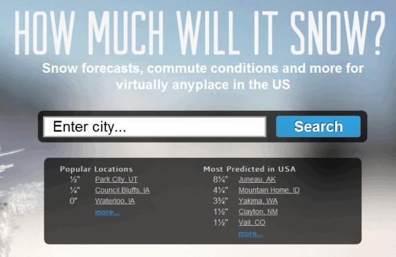 us snowfall forecast