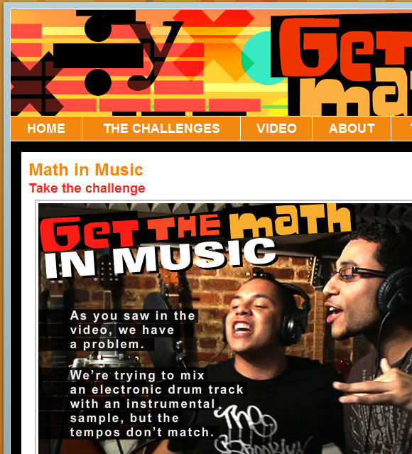 math   GetTheMath: Videos & Challenges For Using Algebra In The Real World