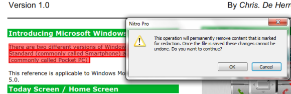 Using the redact tool in Nitro Pro 7