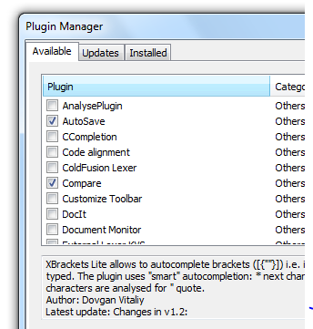 notepad plus plus plugins