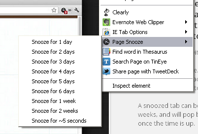 page snooze