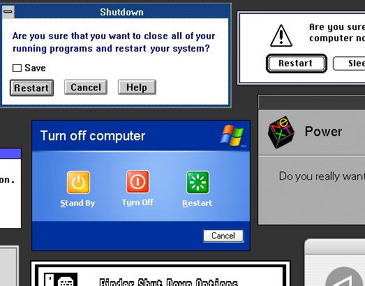computer restarts