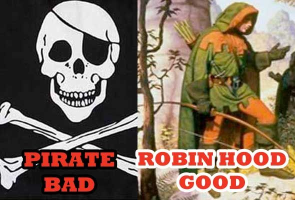 Why The Campaign Against Piracy Is A Farce [Opinion] robin hood vs piracy