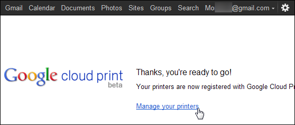 share your printer over the internet