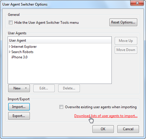 Impersonate Other Browsers With User Agent Switcher [Firefox] screenshot 13