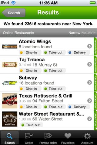 iphone pizza application