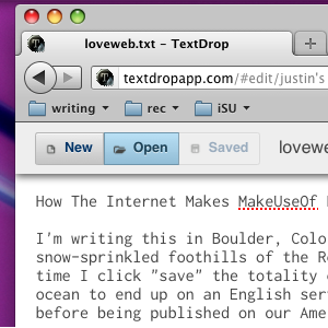 Edit Text Files In Your Dropbox From Your Browser With TextDropApp