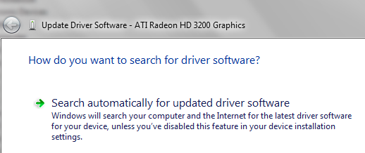 update video card driver