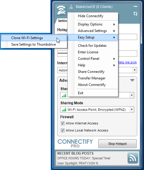 Create Your Own Wi-Fi Hotspot With Connectify 2012 02 20 21h56 28