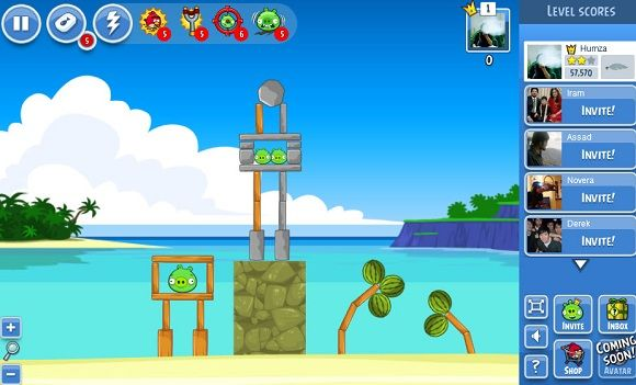 play angry birds on facebook
