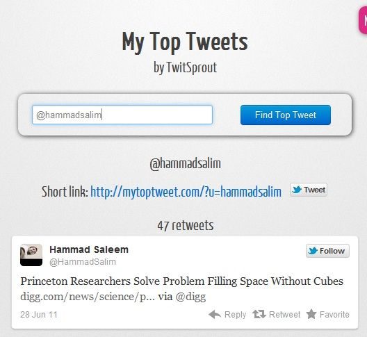 find your most retweeted tweet