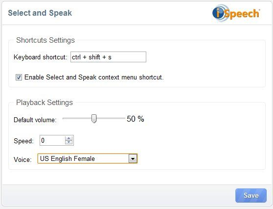 text to speech extension