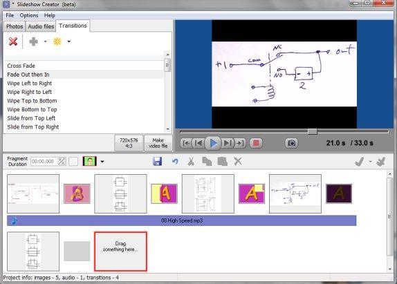 create slideshows videos