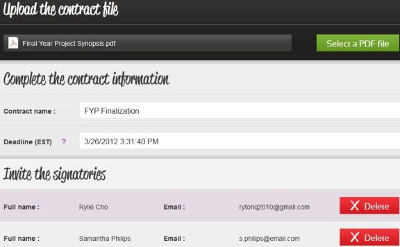 get documents signed online