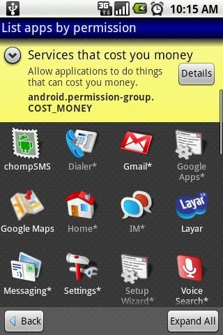 manage app permissions android