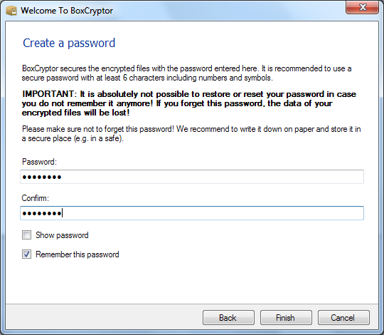 how to encrypt dropbox files
