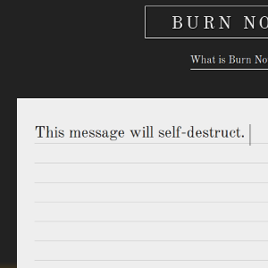 Send Self-Destructing Messages To Your Minions With Burn Note