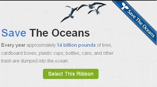 ribbon on website