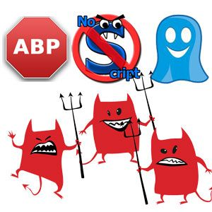 AdBlock, NoScript & Ghostery – The Trifecta Of Evil