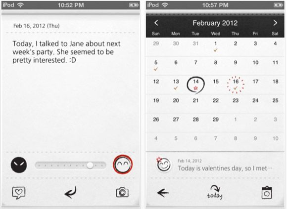 iphone journal diary app