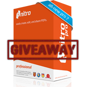 Create, Edit and Share PDFs the Right Way with Nitro Pro 7 [Giveaway]