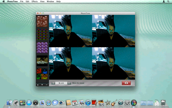 pic2   PhotoTime: Take Fun Snapshots Using Your Web Camera With Live Effects (OSX)