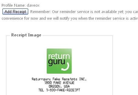reminder to return item