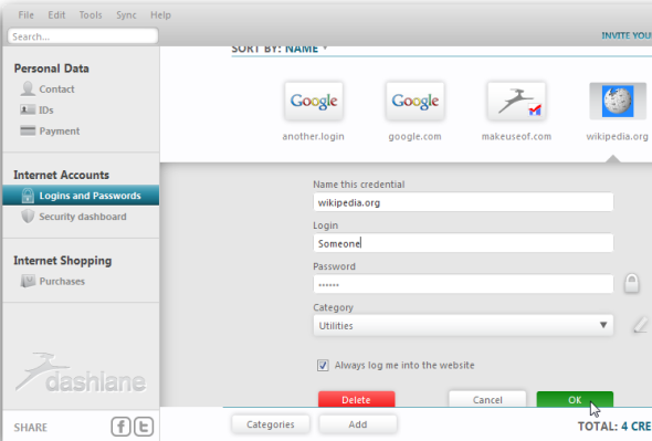 Dashlane - A Slick New Password Manager, Form Filler & Online Shopping Assistant screenshot 20
